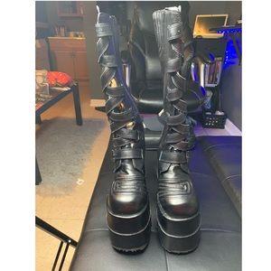 UNISEX Demonia DOUBLE Platform Boots